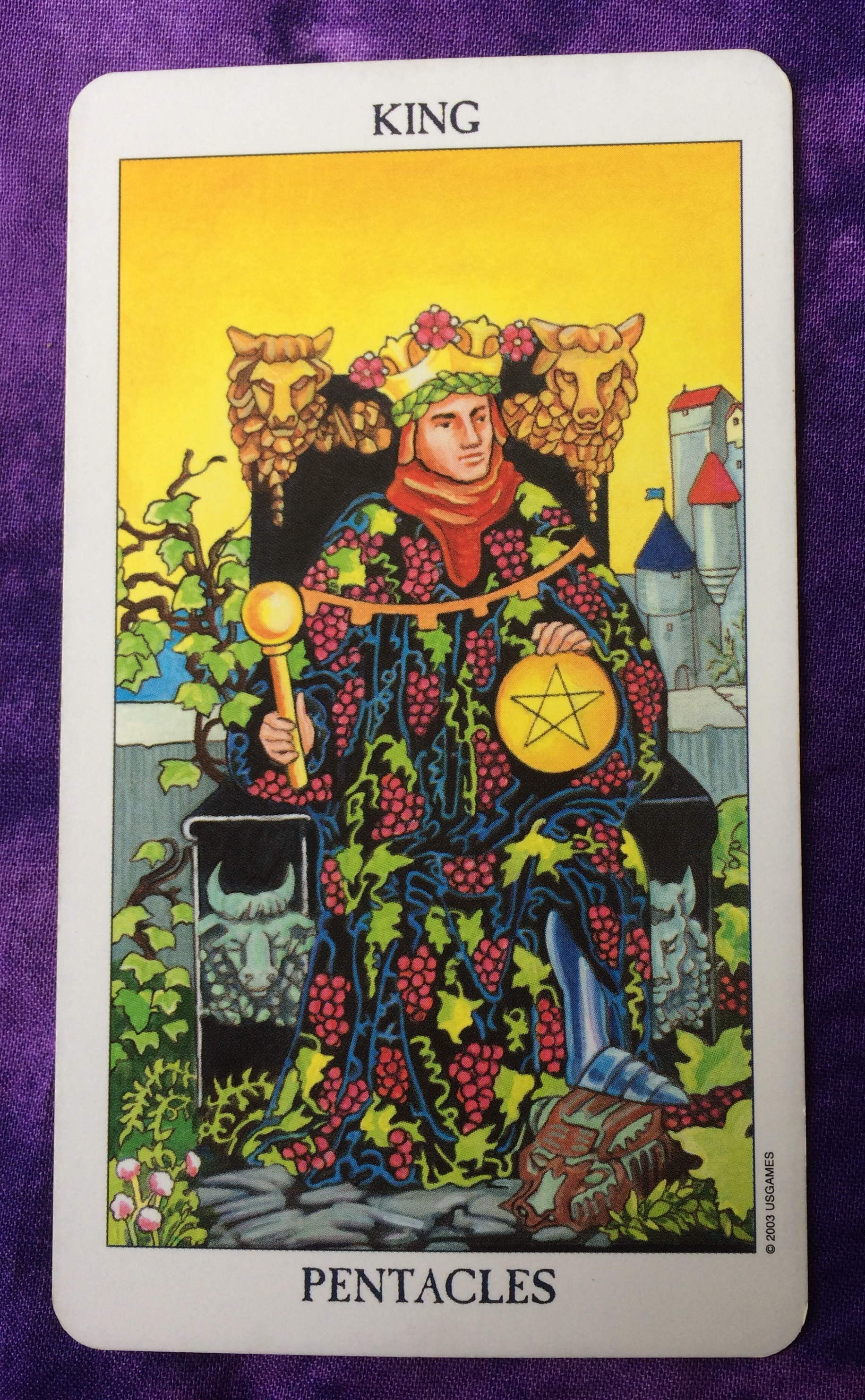 King Of Coins Pentacles As Advice: King Of Pentacles