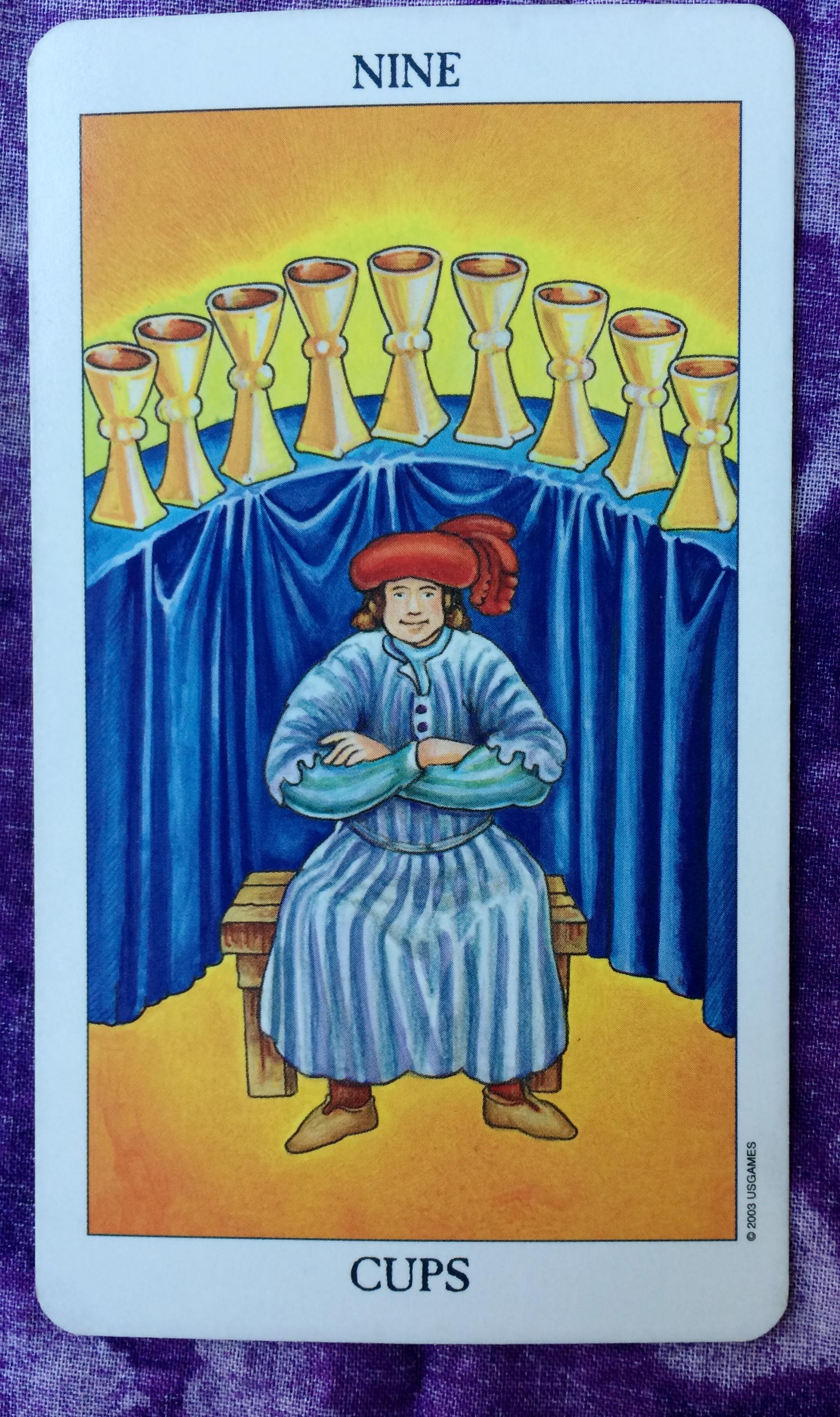 Nine of Cups | Ms  Joyce Tarot