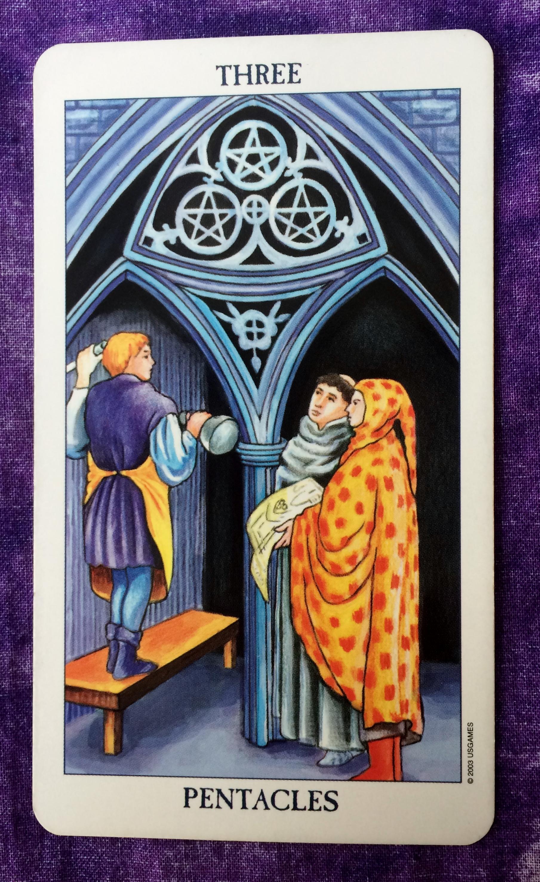 Three of Pentacles | Ms  Joyce Tarot